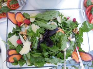 So sieht das Gemüse dann bei uns am Buffet aus ...